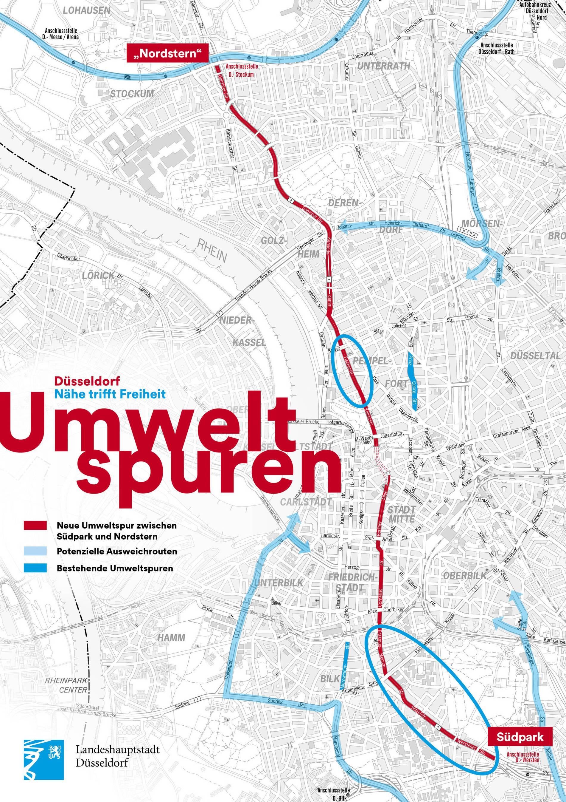 Umweltspur Düsseldorf
